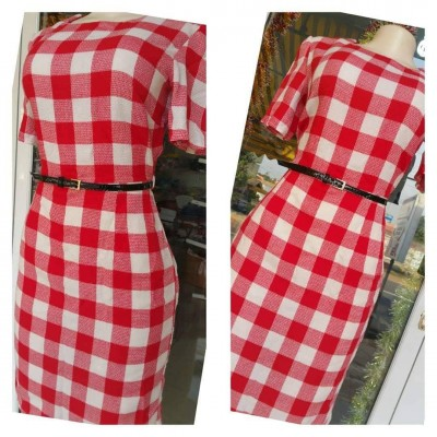 Checkered Dress - Red