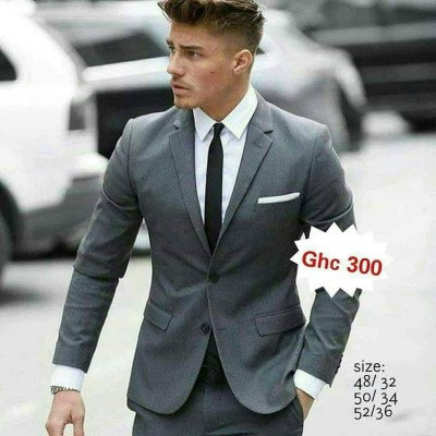 Slim Two-button  Suit - Grey