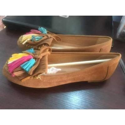 Fashion Girl Flat Shoes-Brown
