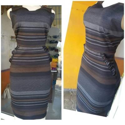Dress - Charcoal Multicolour