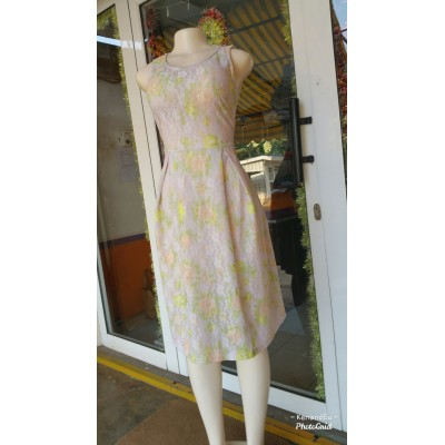 Lace Flare Dress - Multi