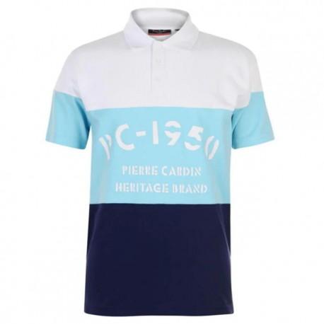 Pierre Cardin Polo - White/Sea Blue/Navy