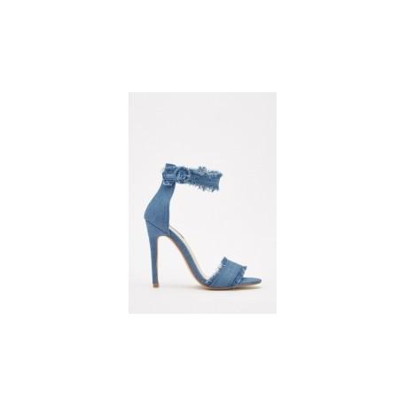 Blue Denin Heels