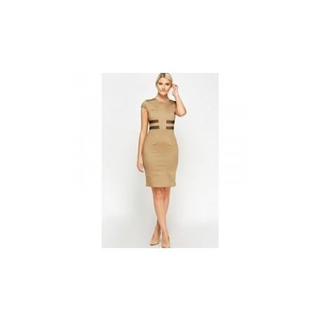 Pencil Dress - Brown
